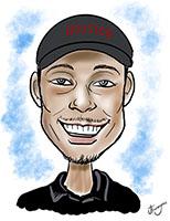 Young Man Digitally Drawn