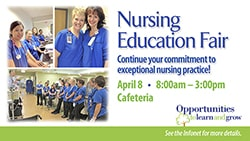 Nursing Education Fair internal digital sign