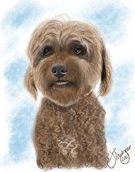 Digitally Drawn Dog Portrait