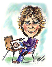 caricature drawing of caricature artist