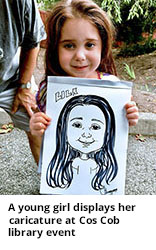 Caricature Drawing of Little Girl