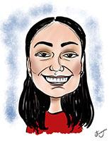 Young Woman Digitally Drawn