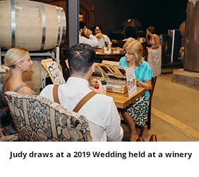 Judy Draws at a 2019 Wedding